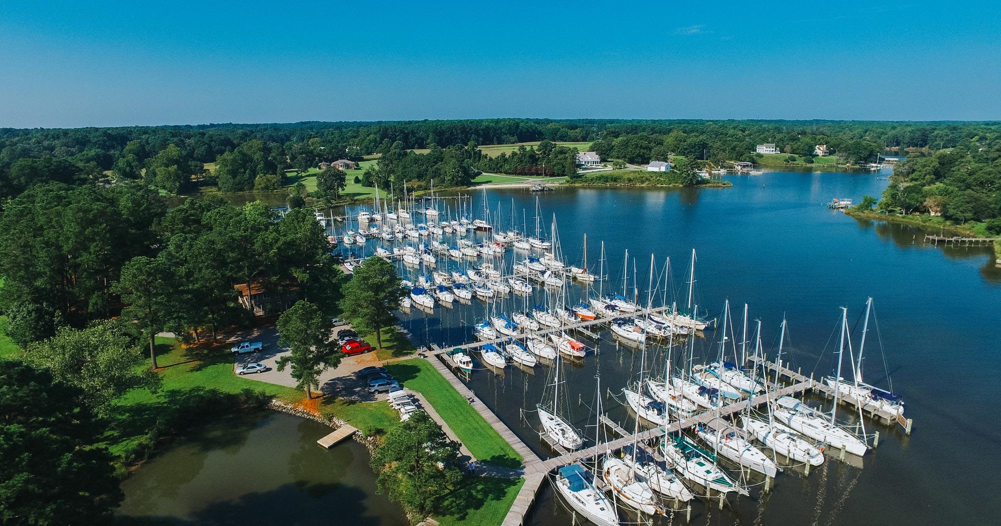 Regent Point Marina docks aerial